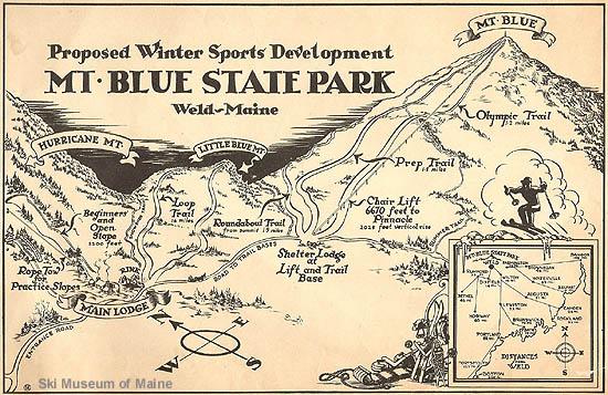 Mt Blue State Park Winter Sports Development Maine New England S