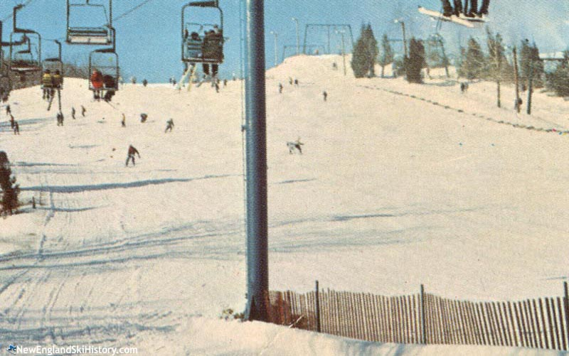 The lift line (left of right) in the 1970s