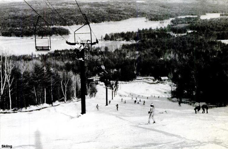 The Pine Double chairlift circa the early 1980s
