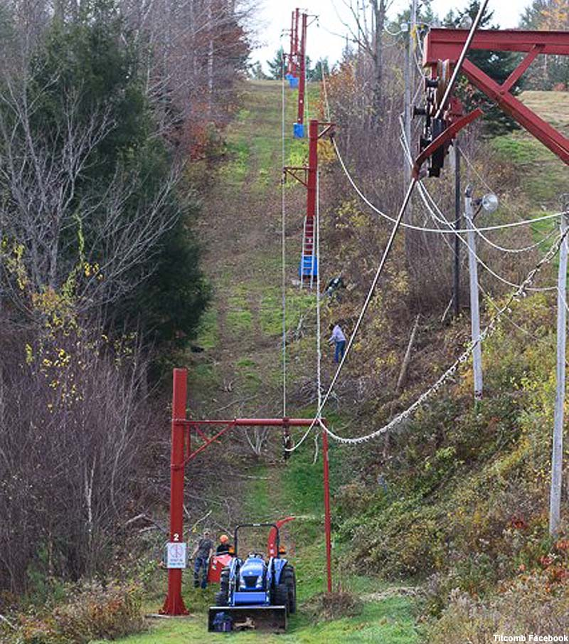 Installation of a new cable on the #1 T-Bar in 2013