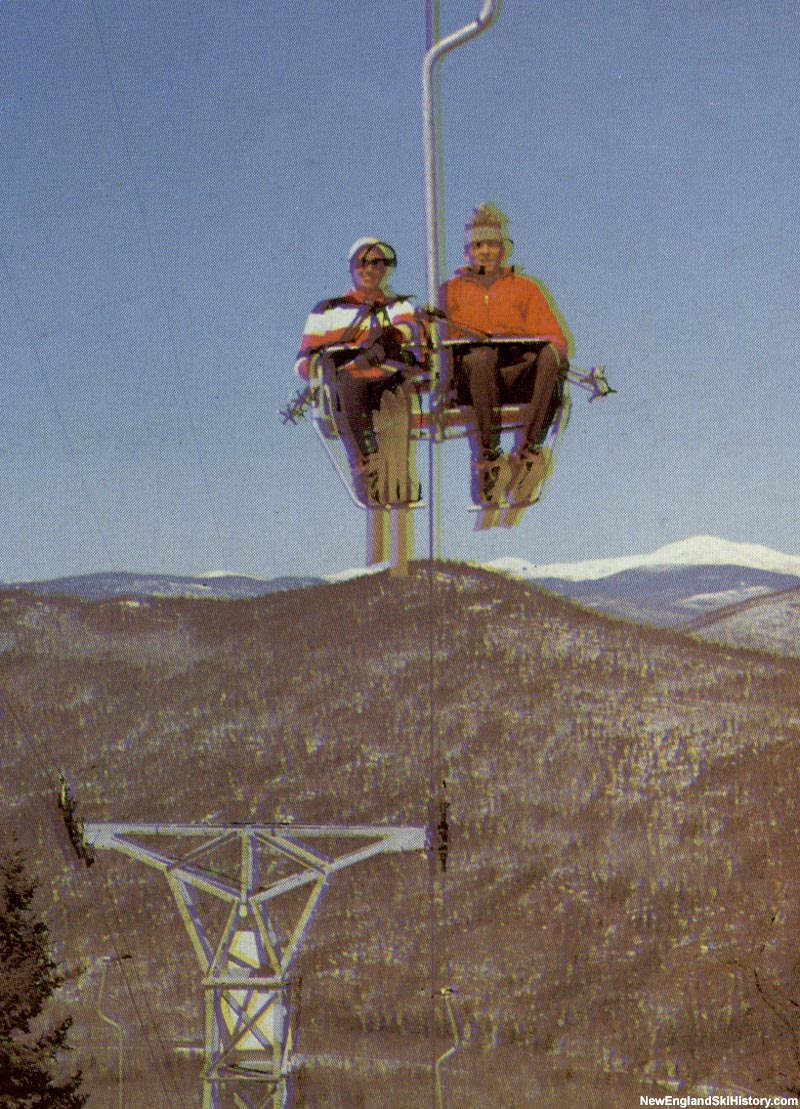 The Attitash double chairlift circa the mid to late 1960s