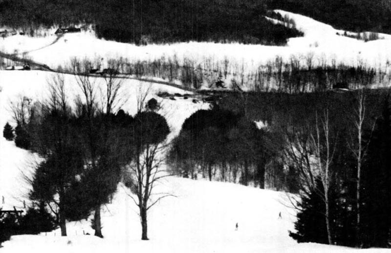 The lift line (left) circa the 1970s