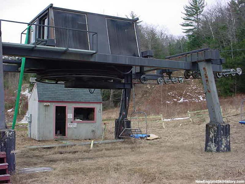 The idle triple chairlift in 2002