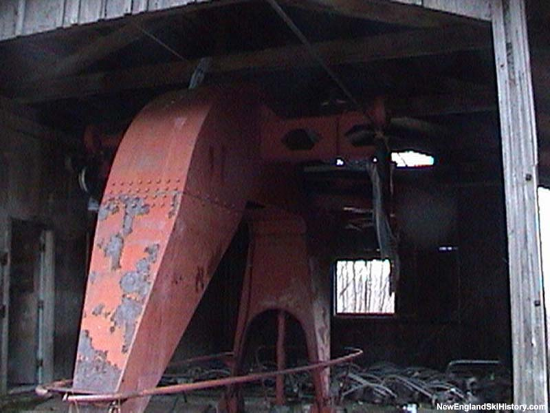 The old Mittersill Double Chair base terminal in 2003