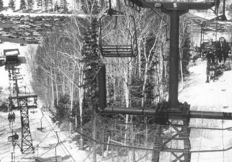 The North Peak Double (bottom) and Summit Double (top) circa the 1960s