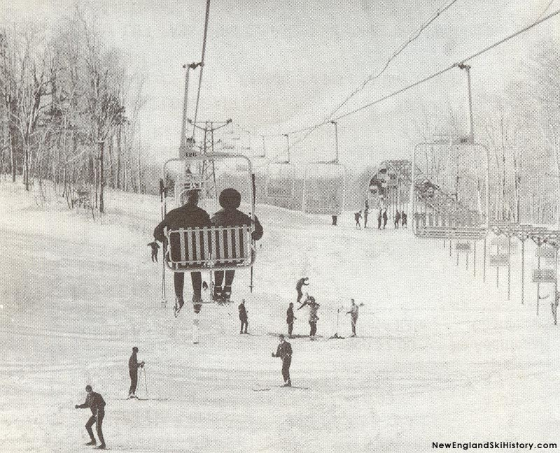 The Snow Dance Double (left) with the Standard Lift (right) circa the mid 1960s