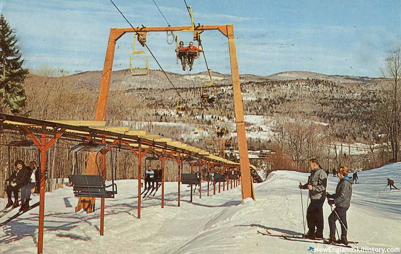 The Exhibition Lift (bottom) and Snow Dance Double (top) circa the 1960s