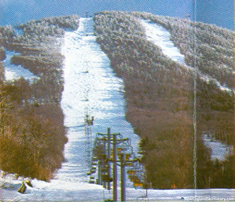 The Lower Chairlift (foreground) circa the mid to late 1970s