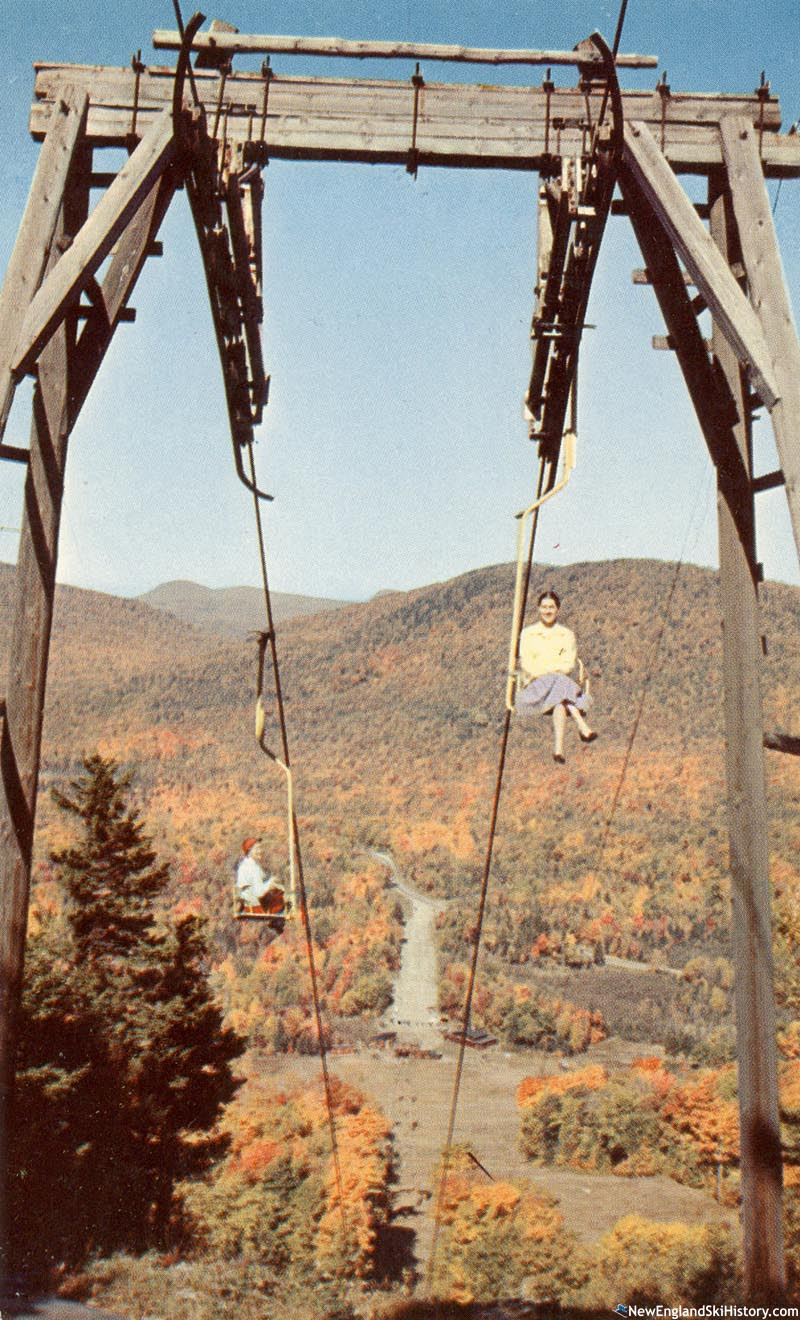 The T-Bar converted to a single chairlift for summer use