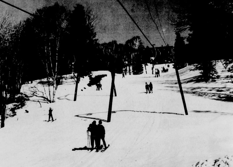 The lift line (left) circa 1963