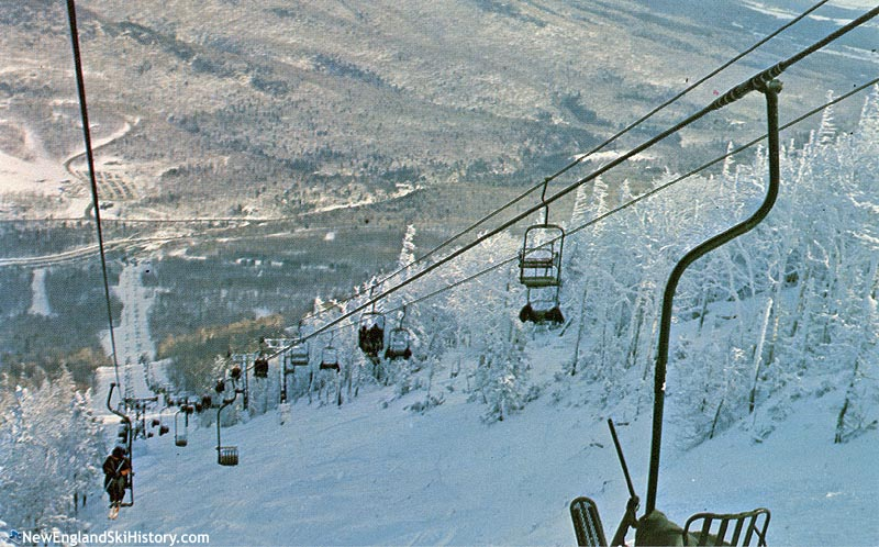 The Single Chair (left) and Mt. Mansfield Double (right) circa the 1960s