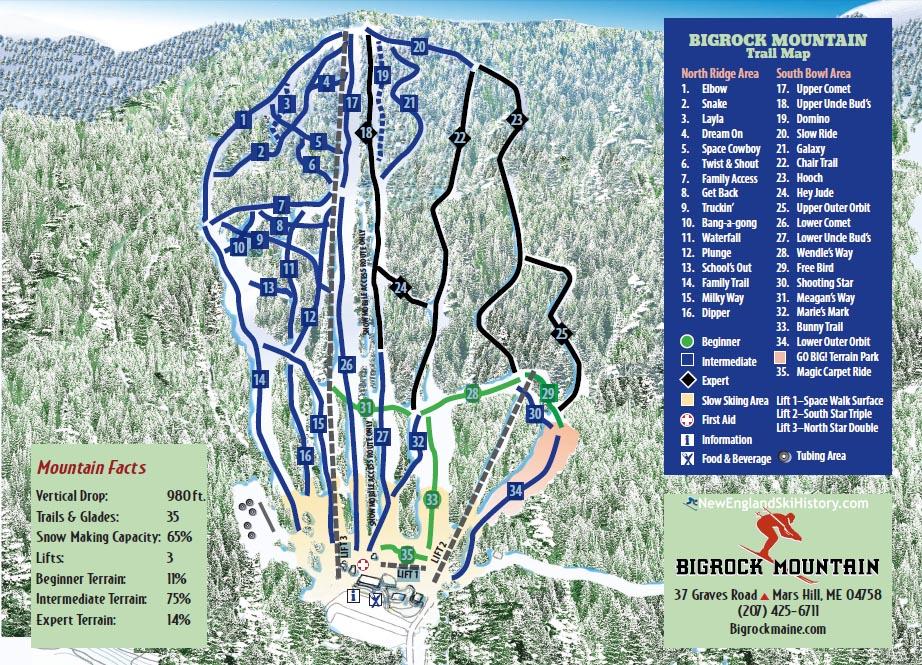 2018-19 Big Rock Trail Map