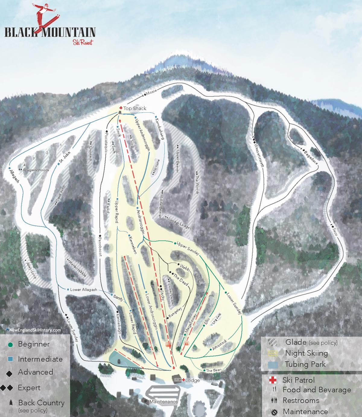2016-17 Black Mountain Trail Map - New England Ski Map ... on maine united states map, discovery ski resort trail map, maine atv trail map, maine county map with towns,
