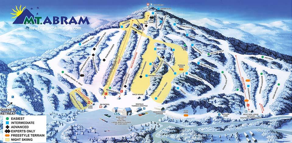 2017-18 Mt. Abram Trail Map