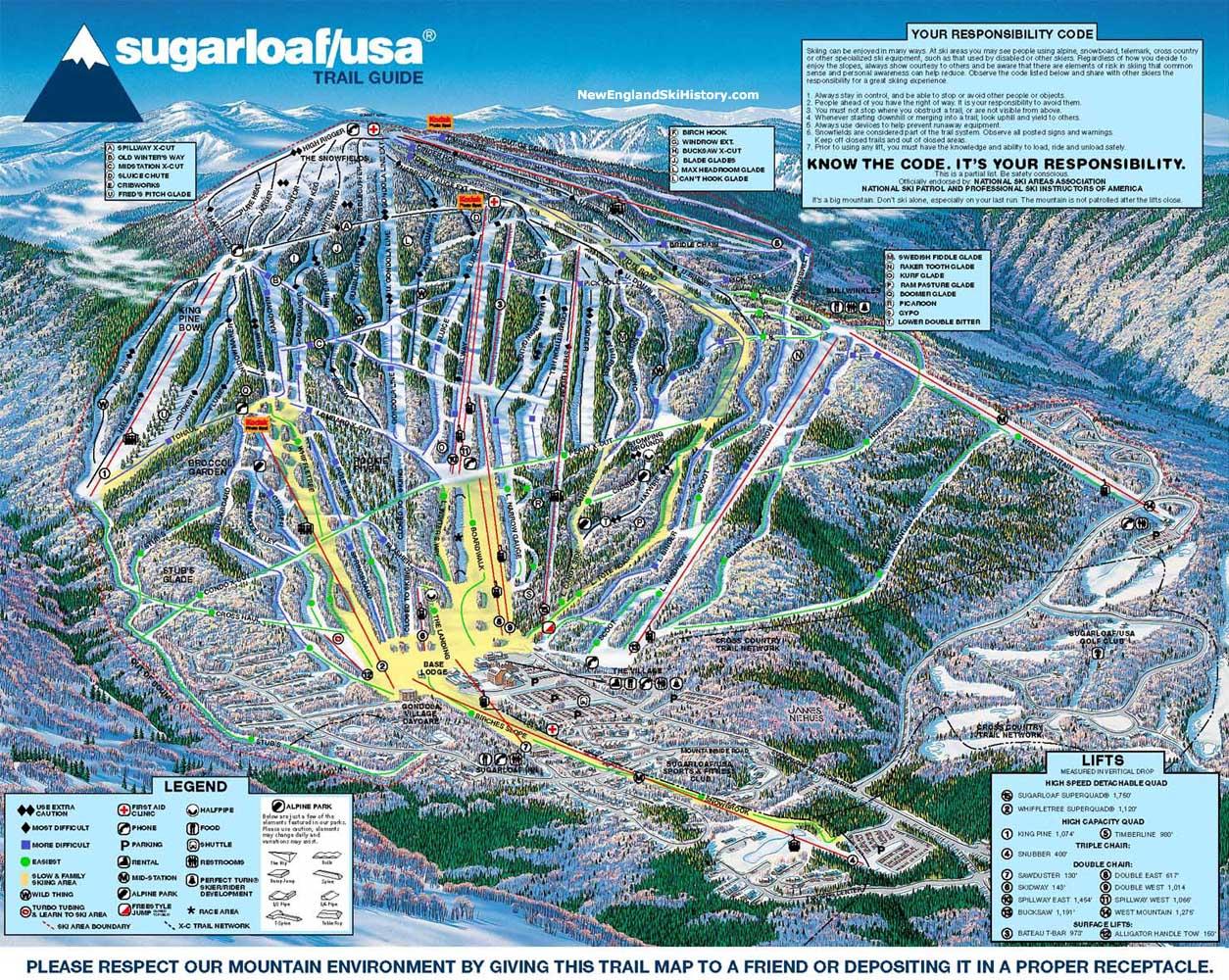 200102 Sugarloaf Trail Map  New England Ski Map Database