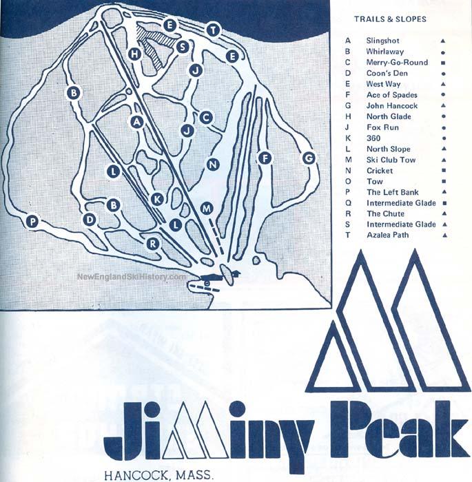 1969-70 Jiminy Peak trail map - New England Ski Map Database ... on