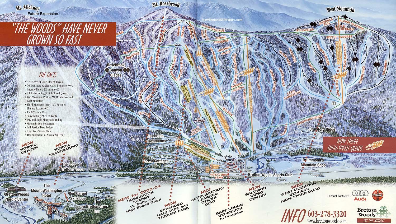 New Hampshire >> 2002-03 Bretton Woods Trail Map - New England Ski Map Database - NewEnglandSkiHistory.com