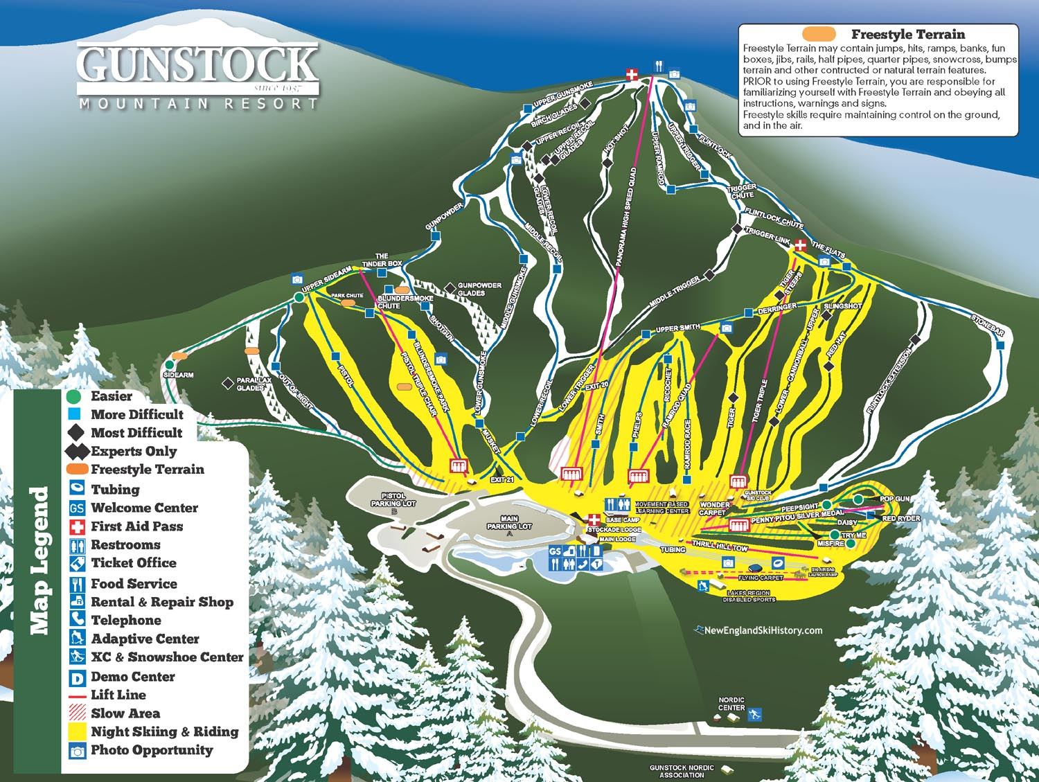 gunstock trail map with Viewmap on Sugarloaf also Mohawk Mountain additionally Xc Run Series moreover Livefreeandhikenh blogspot moreover July 16 2016 Gunstock Redlining.