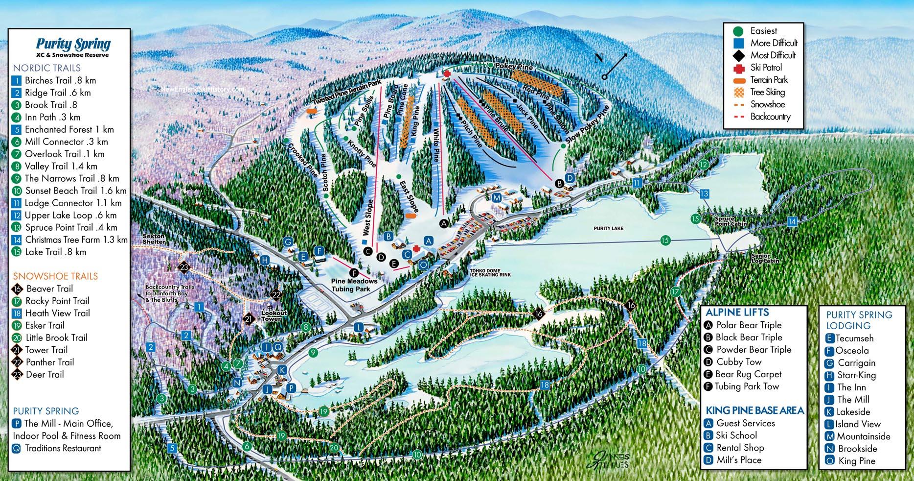 2020-21 King Pine Trail Map