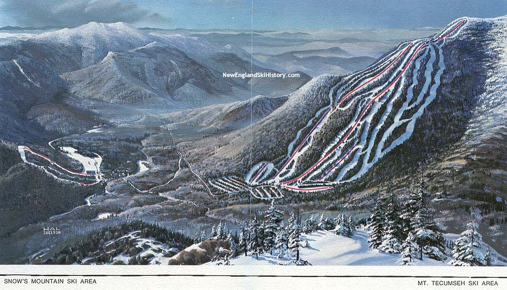 197071 Waterville Valley Trail Map New England Ski Map Database