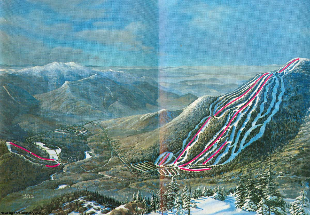 1971-72 waterville valley trail map - new england ski map database