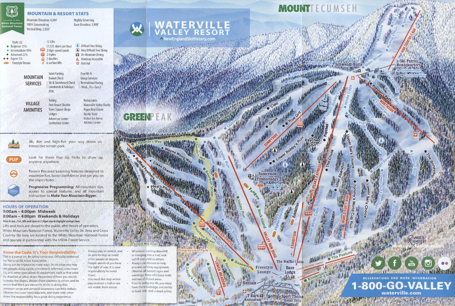 2018-19 Waterville Valley Trail Map