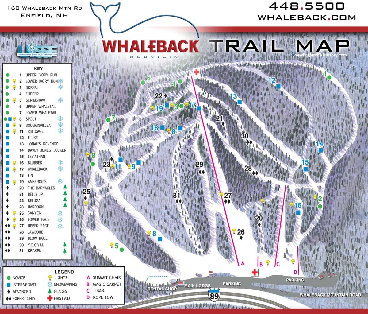 2020-21 Whaleback Trail Map