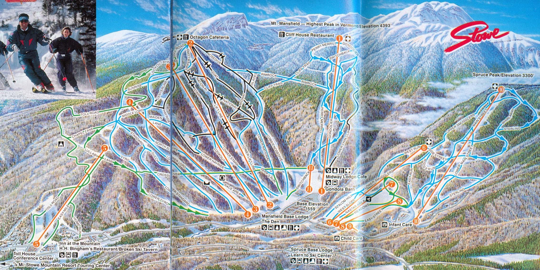 199495 Stowe Trail Map  New England Ski Map Database