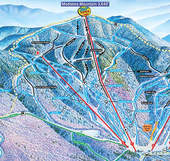 Madonna Mountain  Smugglers Notch  New England Ski Area
