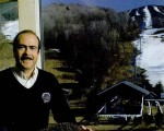 The Lower Chairlift in the 1980s with General Manager Frank Heald in the foreground