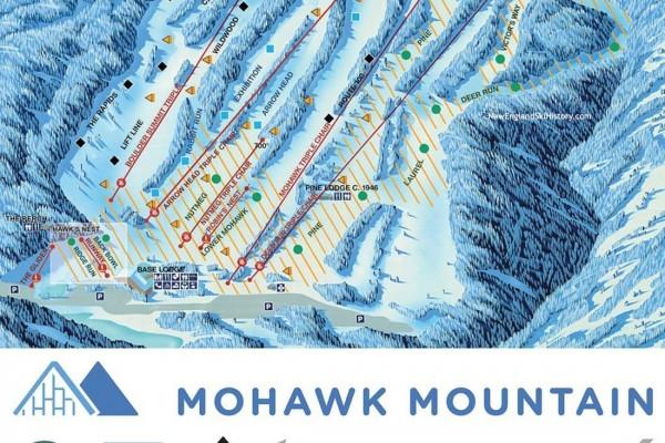 2018-19 Mohawk Mountain Trail Map