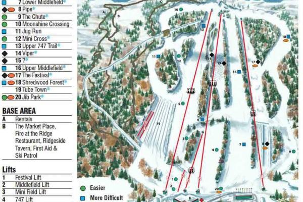 2018-19 Powder Ridge Trail Map