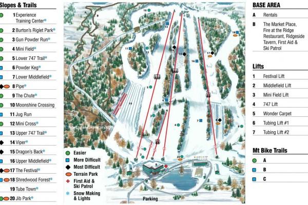 2020-21 Powder Ridge Trail Map