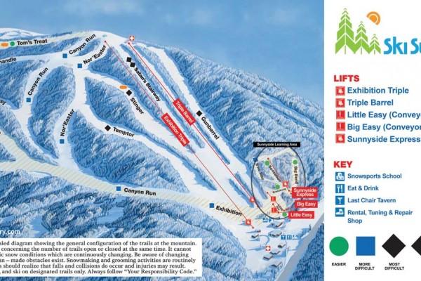 2018-19 Ski Sundown Trail Map