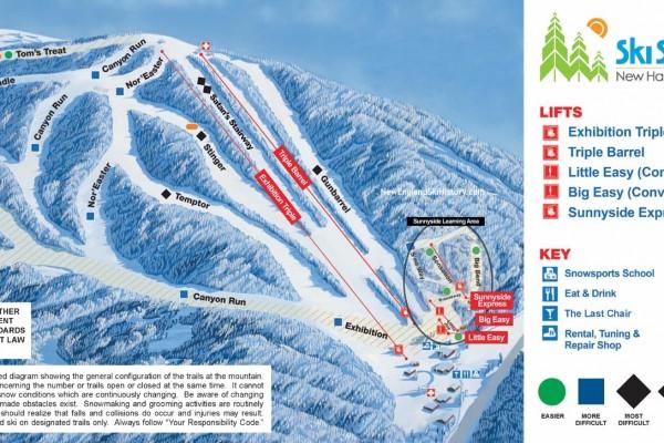 2020-21 Ski Sundown Trail Map