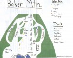2017-18 Baker Mountain Trail Map