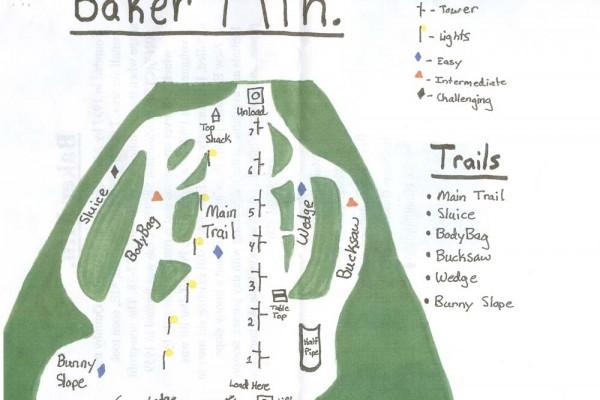 2017-18 Baker Mountain Trail Map