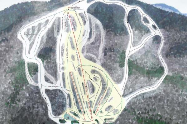 2017-18 Black Mountain Trail Map