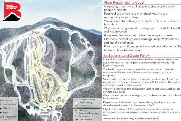 2018-19 Black Mountain Trail Map