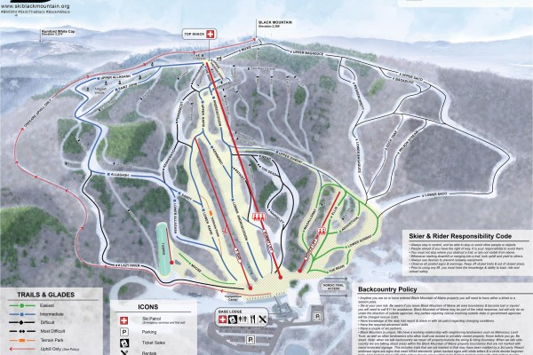 2020-21 Black Mountain Trail Map