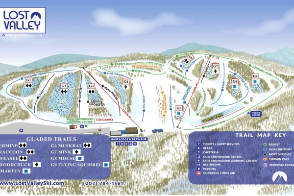 2020-21 Lost Valley Trail Map