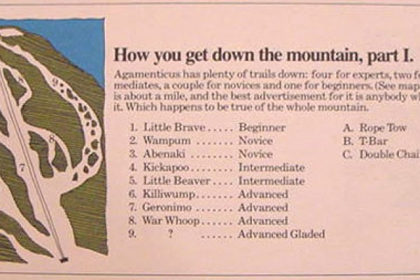 1970s Mt. Agamenticus Trail Map