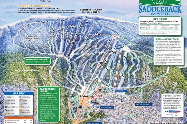 2014-15 Saddleback Trail Map