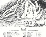 Pleasant Mountain trail map circa 1970s or early 1980s