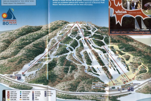 2017-18 Shawnee Peak Trail Map