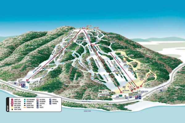 2020-21 Shawnee Peak Trail Map