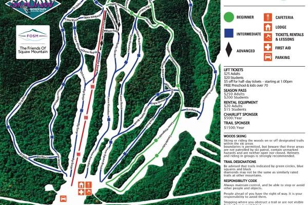 2018-19 Big Squaw Trail Map