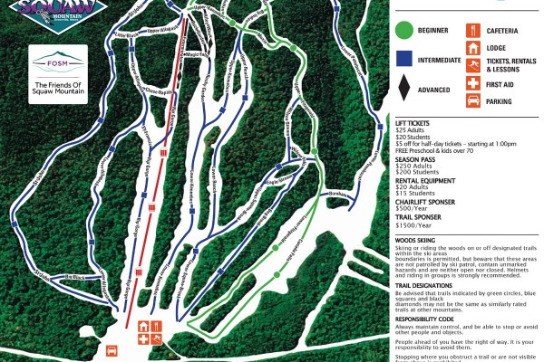 2019-20 Big Squaw Trail Map