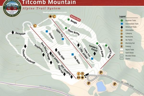2018-19 Titcomb Mountain Trail Map