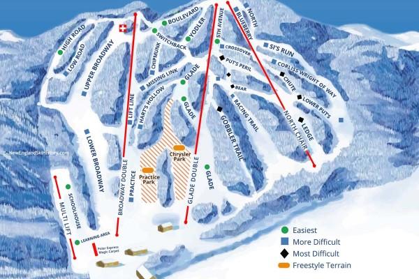2017-18 Ski Blandford Trail Map